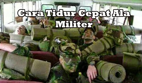 Cara Tidur Cepat Ala Militer